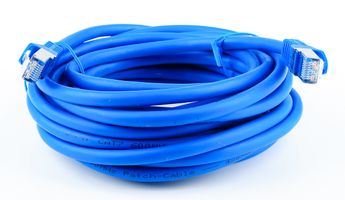 Cat.7 Patchkabel / Netzwerkkabel / Network Cable - RJ45, Cat.6a Stecker / Connector - 5m - blue