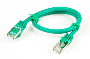 Cat.7 Patchkabel / Netzwerkkabel / Network Cable - RJ45, Cat.6a Stecker / Connector - 0.5m - Grün