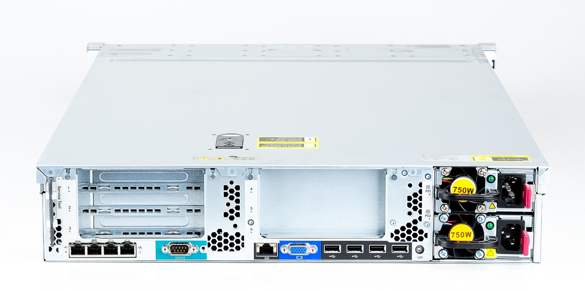 HP ProLiant DL380p Gen8 Storage Server 2x Xeon E5-2637 Dual Core 3.00 GHz, 16 GB DDR3 RAM, 2x 300 GB SAS 10K