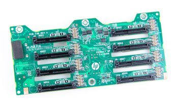 HP 8x 2.5'' SAS/SATA Festplatten / Hard Disk Backplane Board - ProLiant DL380p Gen8 - 643705-001