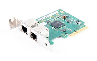 Fujitsu Dual Port Gigabit Server Adapter / Netzwerkkarte PCI-E - D3035-A11 - low profile