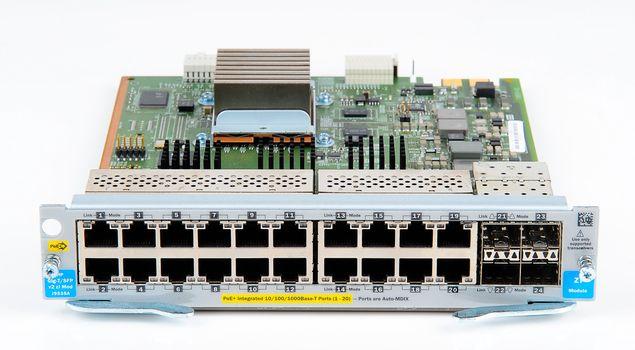 HP ProCurve V2 zl-Series Switch Modul - 20x Gigabit RJ45 PoE+ Ports, 4x 1 Gbit/s SFP Slots - J9535A – Bild 3