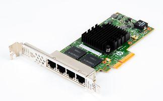 HP 366T Quad Port Gigabit RJ45 Ethernet Server Adapter / Netzwerkkarte PCIe x4 - 816551-001 / 811546R-B21