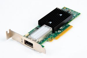 Mellanox ConnectX-3 Single Port 40 Gbit/s QSFP+ InfiniBand Server Adapter / Netzwerkkarte PCI-E - CX353A - low profile