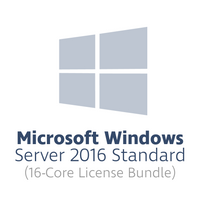 Microsoft Windows Server 2016 Standard for 16 cores (16-core license bundle, OPL volume license)