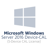 HPE Microsoft Windows Server 2016 Device-CAL (5x Gerät-CAL HPE-branded Lizenz)