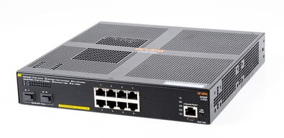 HPE Aruba 2930F-8G PoE+ Desktop Managed Switch 8x Gigabit RJ45 Ports, 2x SFP+ Slots - JL258AR