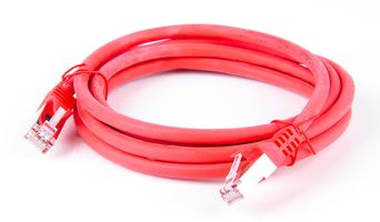 Cat.7 Patchkabel / Netzwerkkabel / Network Cable - RJ45, Cat.6a Stecker / Connector - 2m - Rot
