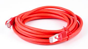 Cat.7 Patchkabel / Netzwerkkabel / Network Cable - RJ45, Cat.6a Stecker / Connector - 5m - red