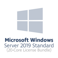 Microsoft Windows Server 2019 Standard for 20 cores (20-core license bundle, OPL volume license)