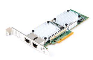 HP 530T Dual Port 10 Gbit/s RJ45 Ethernet Server Adapter / Netzwerkkarte PCIe x8 - 657128-001