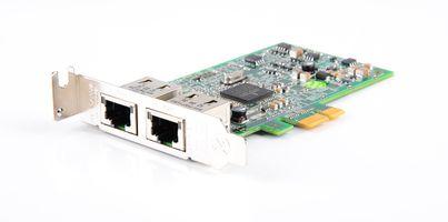 DELL 5720 Dual Port Gigabit Server Adapter / Netzwerkkarte PCI-E - 0557M9 / 557M9 - low profile