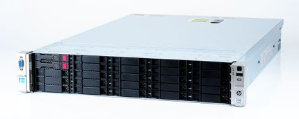 HP ProLiant DL380p Gen8 Storage Server 2x Xeon E5-2609 Quad Core 2.40 GHz, 16 GB DDR3 RAM, 2x 300 GB SAS 10K