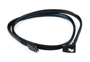 SAS-Kabel / Cable - SFF-8087 to SFF-8087 - gerade zu nach unten gewinkelt, 100cm