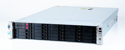 HP ProLiant DL380p Gen8 Storage Server 2x Xeon E5-2640 Six Core 2.50 GHz, 16 GB DDR3 RAM, 2x 300 GB SAS 10K