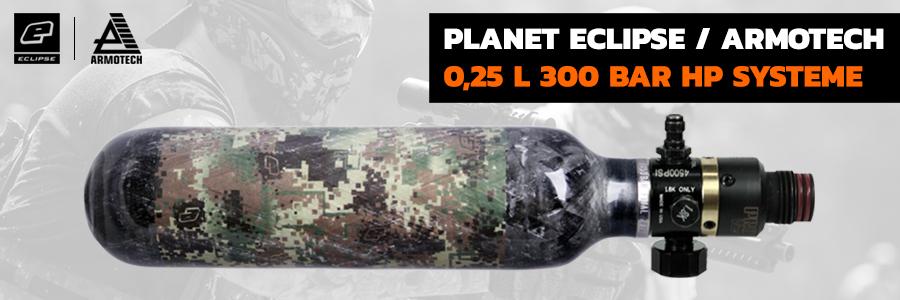 Planet Eclipse / Armotech 0,25 l 300 Bar HP Systeme