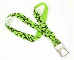 Lanyard with Bottle Opener Planet Eclipse, Fighter black / green