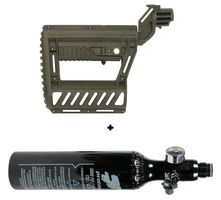 HPA System 200 Bar Protoyz with Regulator and 0,21l aluminium Tank incl. PWR Stock earth
