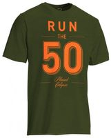 T-Shirt Planet Mens Run 50 olive