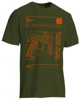 T-Shirt Planet Mens CS1 oliv