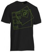 T-Shirt Planet Mens Hypno black