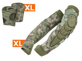 Planet Eclipse Combo Elbow Overloads Pads HD Core incl. Snap Gloves HDE camo XL / XL