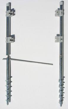 Schraub-Erdanker für Outdoor Paravent Flexi 1 Paar