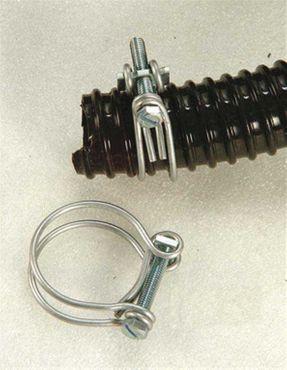 """1 Paar Schlauchschellen wahlweise 1"""" (22 - 26mm) oder 3/4"""" (17 - 20mm) für Teichschlauch"""