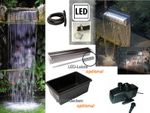 Powerfall 90 Low Fall Wasserfall Set 90 bis ca. 1,00 m inkl. Pumpe, optional LED und Teichbecken 001