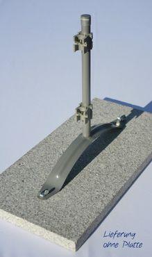 Kombi-Ständer für mobilen Outdoor Paravent Flexi u. Flexi Umkleidekabinen, aufschraubbar auf Beton- oder Granitplatte