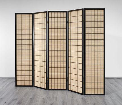 Paravent Wood Line 5 Choko , dekorativer Paravent mit Naturinlay - Paravents by Cilios®