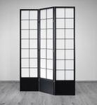 Paravent Hoshi Style 3 XL Black - Stellwand mit Shoji Art, Sondergröße 190 cm Höhe - Paravents by Cilios® 001