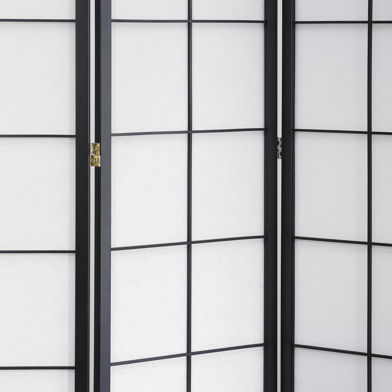 190 cm hoch blickdichte Stellwand mit Shoji Art bespannt Paravents by Cilios Paravent Hoshi Style 6 XL Nature Sondergr/ö/ße ca
