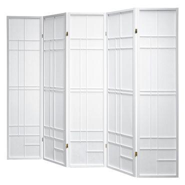 Paravent Trend Style 5 White Rahmen weiß, Stellwand im modern Look, Paravents by Cilios®