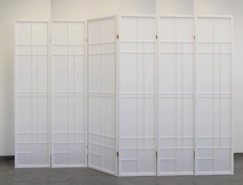 paravent trend style 6 white rahmen wei sichtschutz in. Black Bedroom Furniture Sets. Home Design Ideas