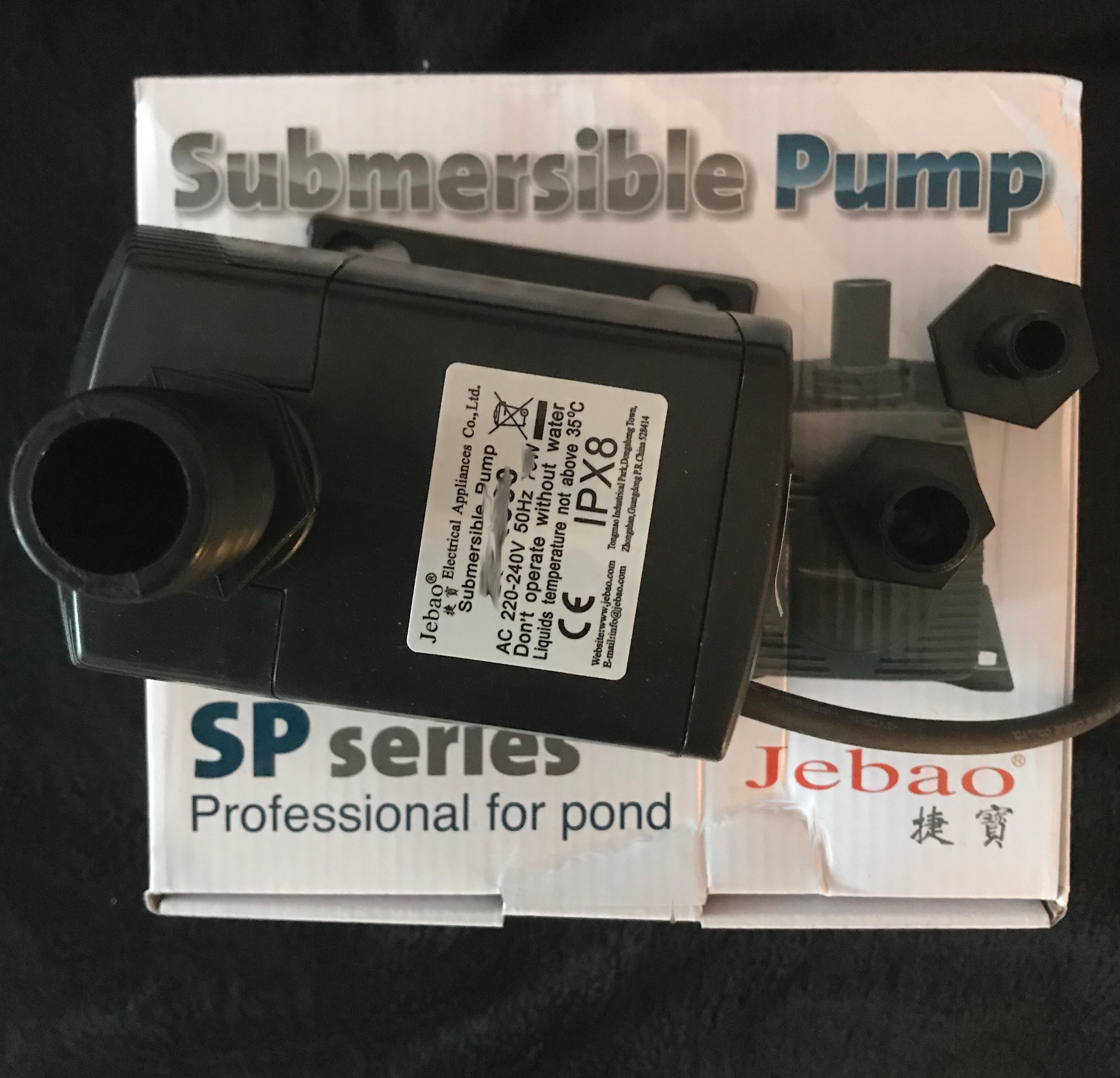 Jebao® SP Zuverlässige Teichpumpe Und Düsen Aufsätze, Größen Modell SP 3000    SP 5000 L/H