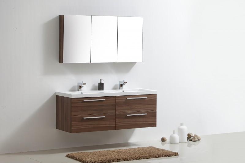 Meuble de salle de bain R1440 - plan double vasque - meuble sous ...