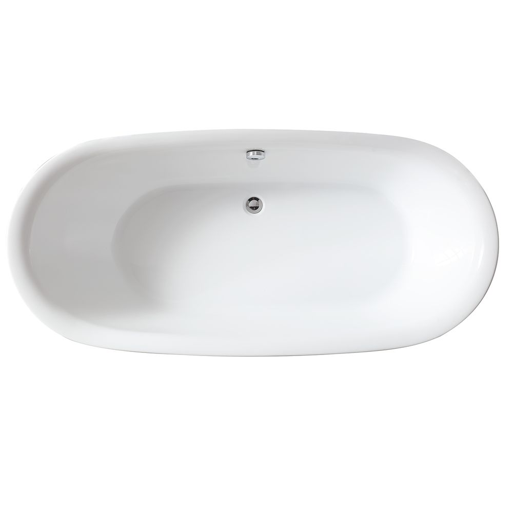 Freestanding Bathtub ROMA BS-916 white -180x84 - incl. tap – Bild 4