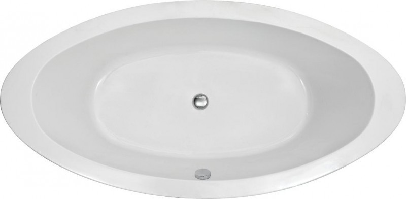 Freestanding Bathtub MODENA BS-859 white - 185 x 91 cm - acrylic -  incl.amature 8028  – Bild 6