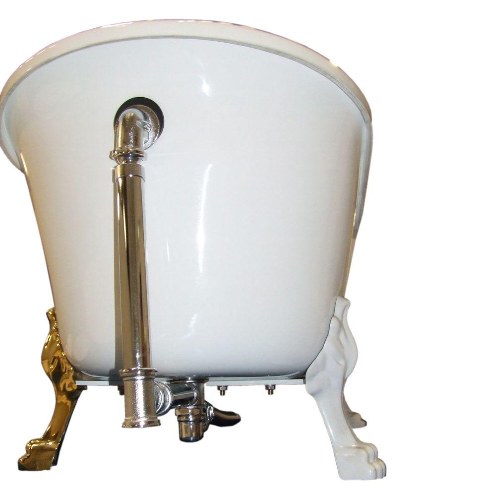 Freistehende Badewanne PARIS ACRYL BS-830 - Weiß - 176x71cm - Inkl. Armatur 1414 – Bild 10