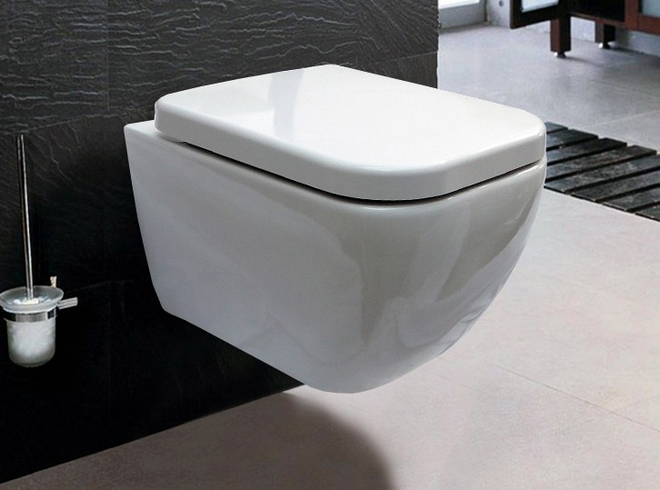 Wall mounted wall hung WC + soft close seat CH101 – Bild 1