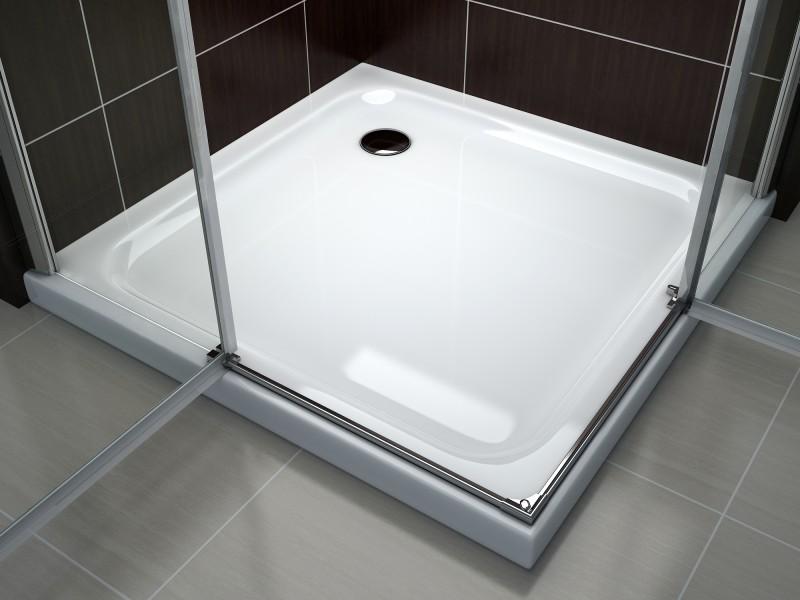 Cabina doccia angolare nano t801 ex801 80 x 80 x 195 cm senza piatto doccia boutique bagno - Doccia senza piatto doccia ...