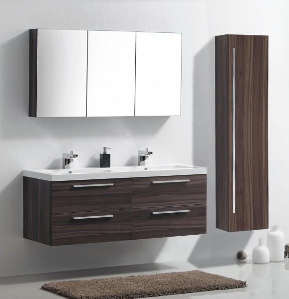 Bathroom Furniture Set R1442R  - dark walnut - with mirror cabinet and right side cabinet – Bild 1