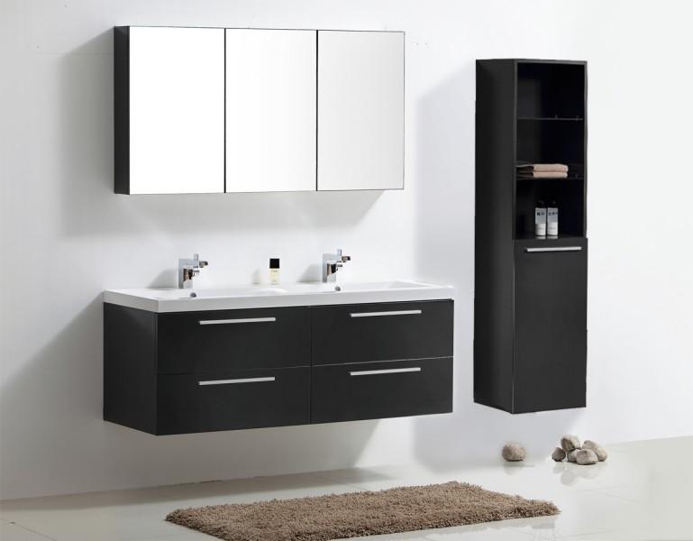 Ensemble de bain R 1449, anthracite, armoire de toilette, double vasque, meuble sous et meuble mural R9 – Bild 1