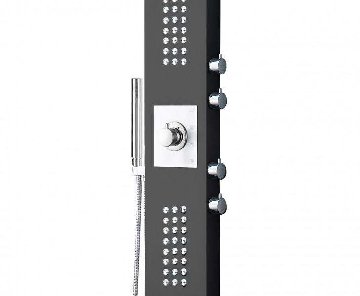 Duschpaneel Edelstahl Anthrazit Duschsystem mit SEDAL-Thermostat Duschsäule 8815 – Bild 2