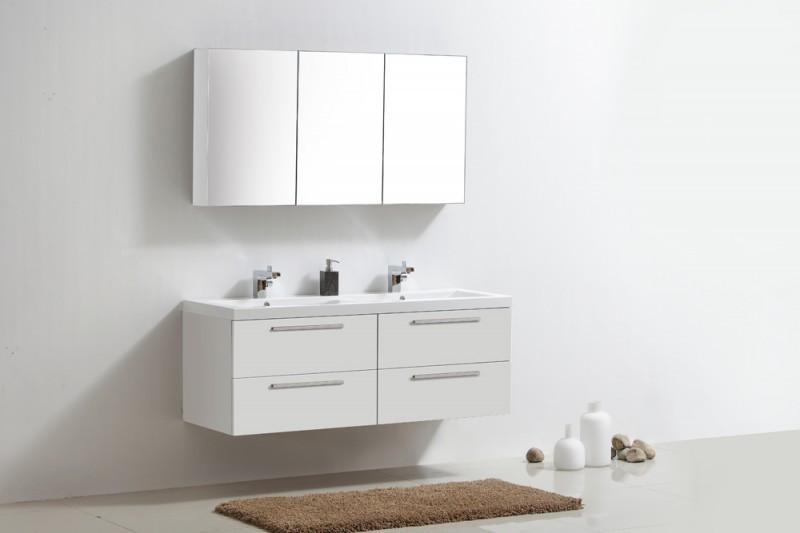 Badmöbel-Set R1440 Basic in Weiß (ohne Spiegelschrank) – Bild 1