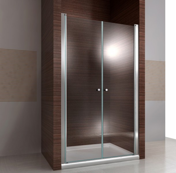 Screen, shower door for recess shower EX218 made from genuine NANO glass - selectable width – Bild 1