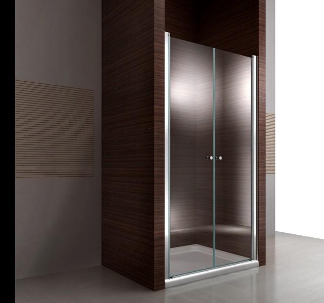 Duschkabine Duschabtrennung Nischentür Nano Echtglas EX218 - 195 cm Höhe - Breite wählbar – Bild 2