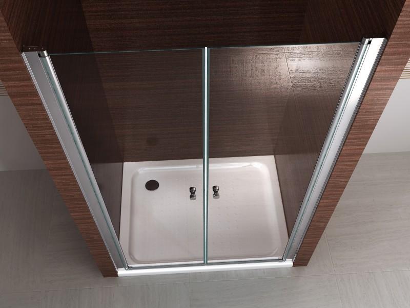 Parois de douche en niche bernstein la boutique salle de bain - Porte coulissante pour douche de 130 cm ...