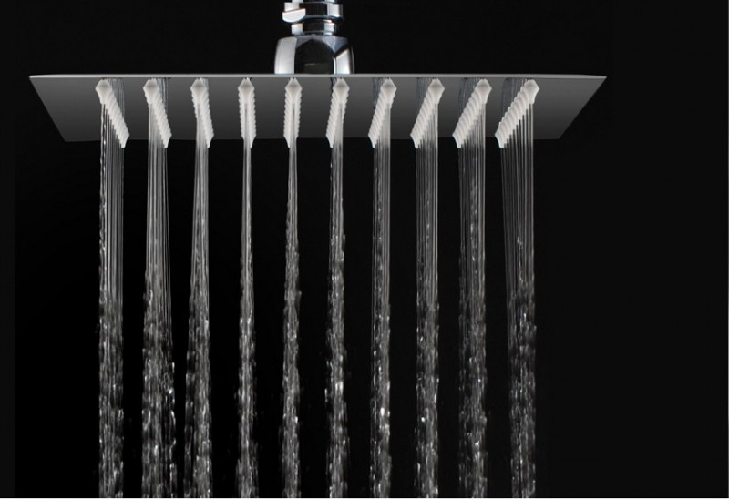 XXL rain shower stainless steel shower head FLAT SUPER DPG2023 - 20x20cm – Bild 1
